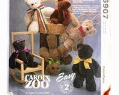 Stuffed Toys: Bear, Rabbit, and Lamb - McCalls 6907 - Easy to Sew Vintage Designer Sewing Pattern