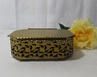 Vintage Brass Trinket Jewel Box, Colony Metalsmiths Virginia