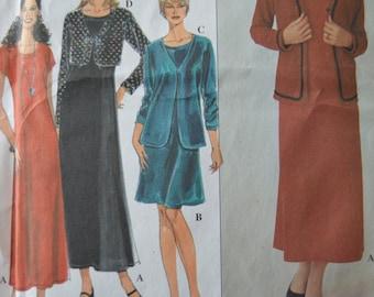 Misses/Miss Petite Knit Dress & Jacket - Simplicity 8789 Pattern - UNCUT