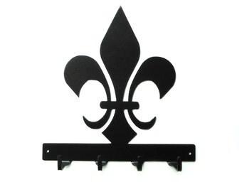 Fleur de lis Metal Art Key Rack - Free USA Shipping