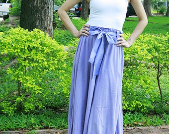 SN011--Cotton skirt with cute ribbon.