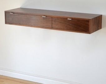 Floating hall table in Walnut