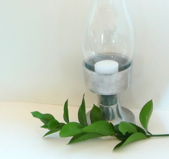 WILTON - ARMETALE - Pewter - Vintage - Hurricane - Candle Holder - Classic - Country - Shabby Chic - Minimalist - Recycled - Eco Friendly