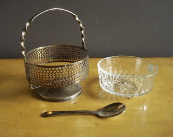Pump up the Jam - Vintage Jam Preserves or Sugar Server with Spoon - Made in France