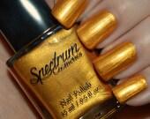 HOWL at the MOON Golden shimmer Halloween Nail Polish