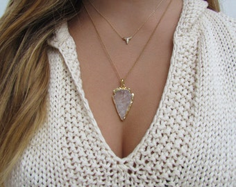 Tiny Shark Tooth Necklace in Sterling Silver or Gold Vermeil