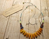 NECKLACE with vintage amber , Tribal Goddess statement necklace   one of a kind OOAK handmade