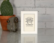 4x6 inch Picture Frame in Double Cove Style with Solid White Finish - Modern White Handmade 4x6 Photo Frame - Can Be Any Color - 4 x 6 Frame