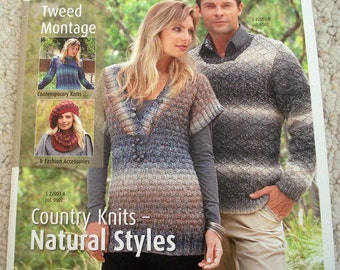 Inspiration No 022, Tweed Montage, Knitting Patterns for Country Knits - Natural Styles