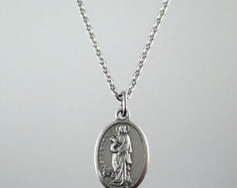 Saint Agatha Medal Necklace