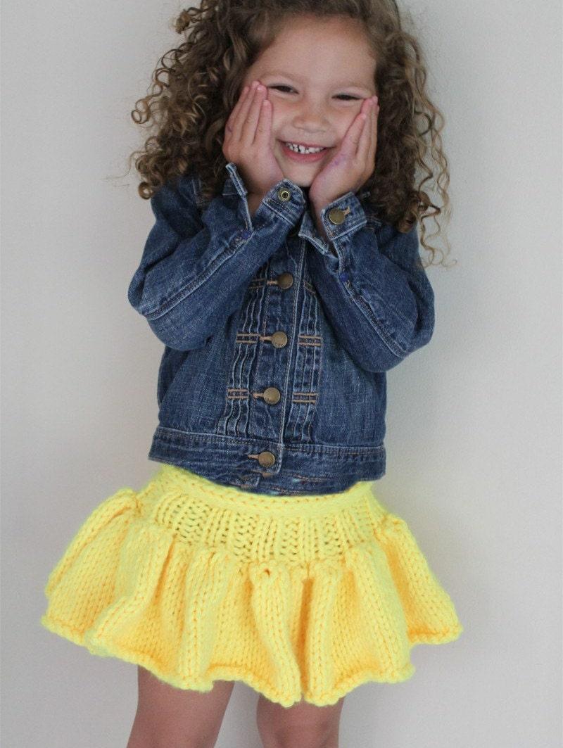 Knitting Skirt For Baby : Knitting pattern girl s tutu skirt baby toddler child