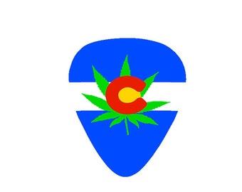 Colorado Cannabis Guitar Pick
