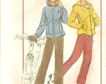 Hooded Jacket , Pants -Vintage 70s Simplicity Personal Fit Pattern 7715 Size 8 & 10 - Uncut