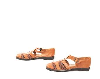 mens size 9 GIORGIO BRUTINI leather sandals made in BRAZIL