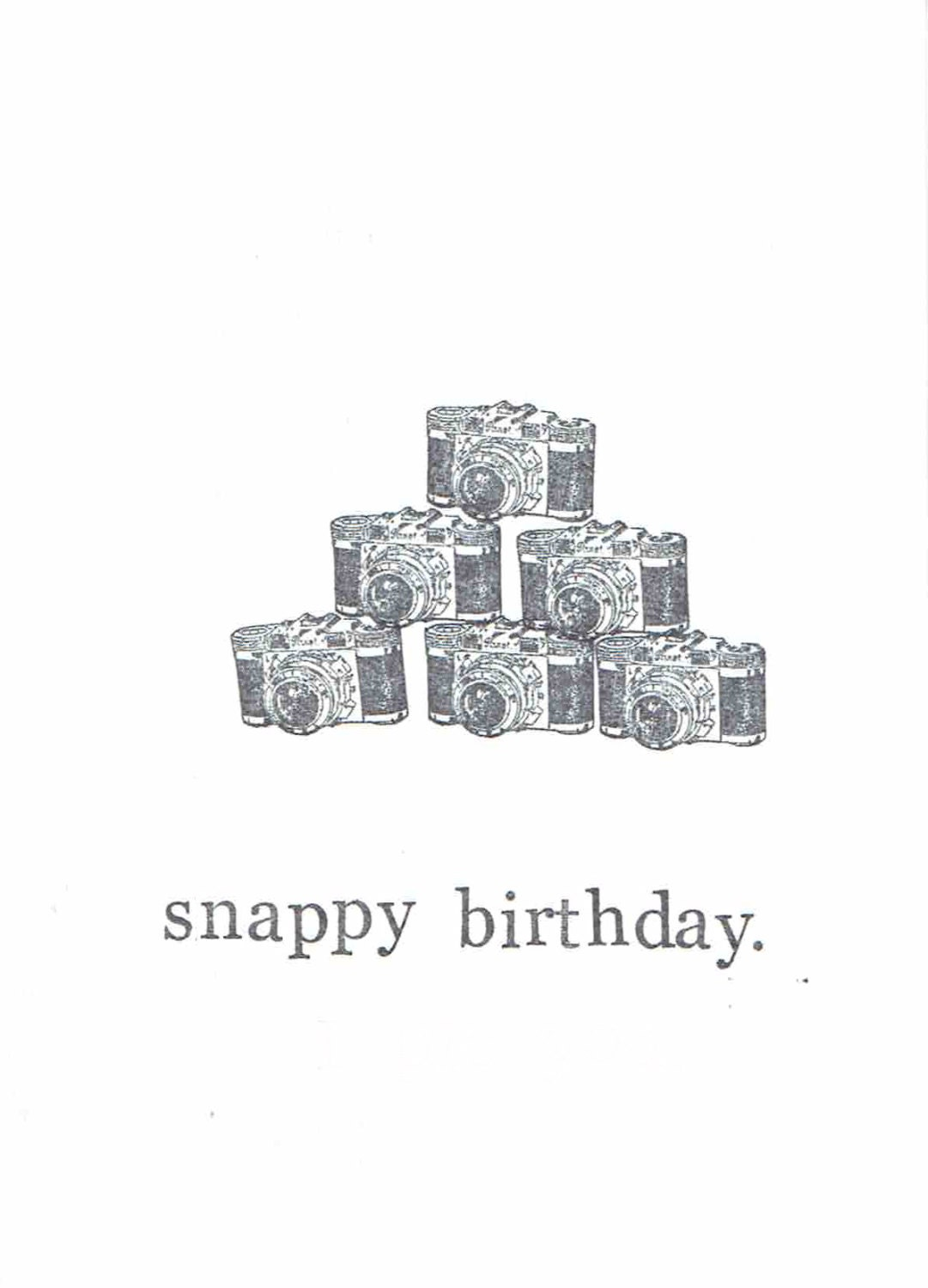 Snappy Birthday Camera Card Photography Pun Humor Funny – Photographer Birthday Card