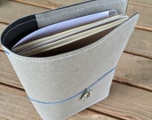 Travelers Notebook/Fauxdori with Pockets - Gray and Black
