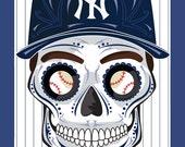 New York Yankees Sugar Skull Print 11x14 print
