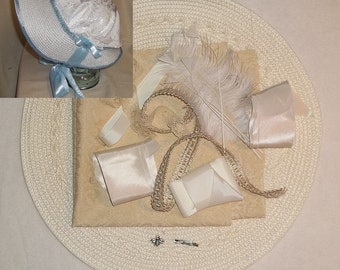 Bonnet Kit- DIY- Ivory- Regency, Georgian, Jane Austen Era Bonnet
