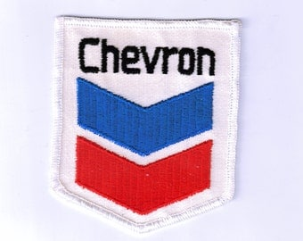 Rare Collectible Chevron Service Station 1970s Retro Vintage Sewing Applique Patch