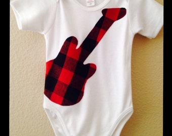 Guitar Romper, Guitar Tshirt, Baby Guitar, Childs Guitar