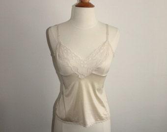 Cream Satiny Lace Camisole
