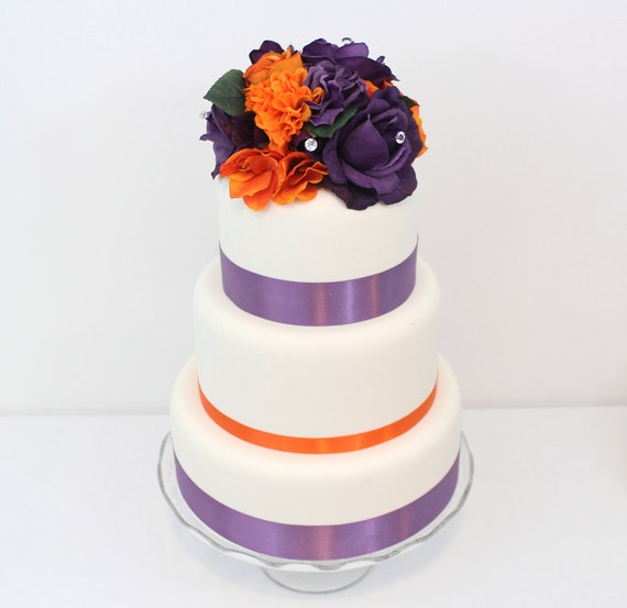 purple and orange wedding cake ideas inspired wedding cake topper orange purple 18864