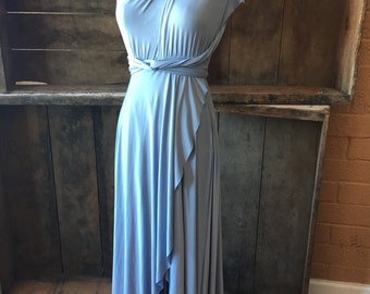 TULIP HEM~ Long Octopus Convertible Wrap Gown-No Train -  Choose from Swatch listing of over 55 colors