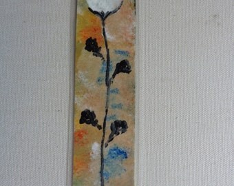 Painted Flower Bookmark