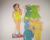 Vintage Paper Doll Ginny Tiu with Clothes from the 1960s Asian Singer