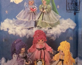 Vintage Sewing Pattern Kalico Kastle Angel Dolls Baby Soft Sculpture Yarn Hair Uncut 1985
