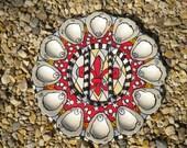 Red Fleur De Lis Oyster Platter
