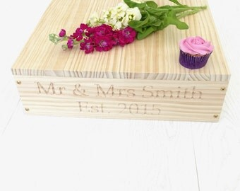 Personalised Wooden Wedding Cake Stand