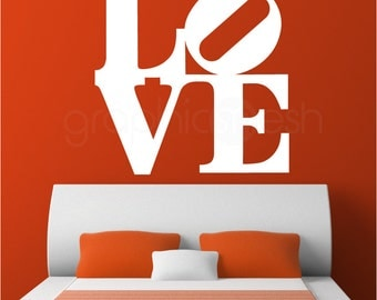 Oversized LOVE POP ART wall decal - Interior wall decor by GraphicsMesh
