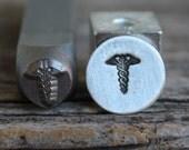 Medical Symbol-Metal Stamp-6mm Size-Steel Stamp-New Metal Design Stamps-by Metal Supply Chick