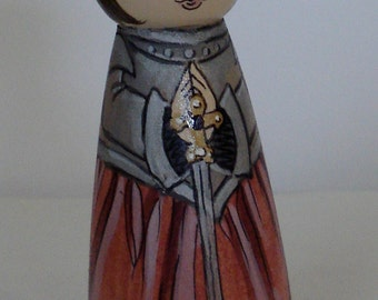 St. Joan of Arc wooden doll