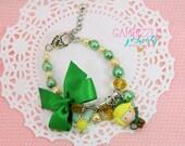 Legend of Zelda bracelet, Link jewelry, Zelda jewelry, Link bracelet, Link clay charm