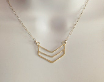 Delicate Hand Forged Chevron
