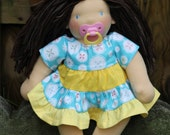 Custom Waldorf doll delivery in March. Made to order waldorf doll.