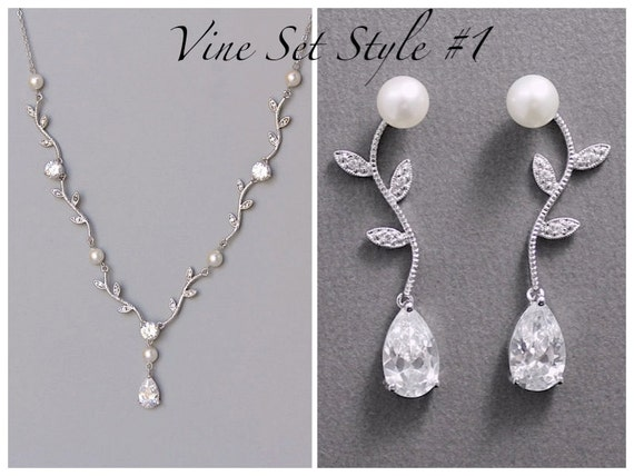 Bridal Jewelry Set Wedding Earrings Necklace Set Jewelry