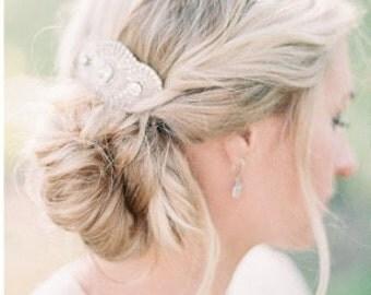 Wedding Headpiece, Crystal Bridal hair comb, Silver bridal comb, Crystal Bridal Comb