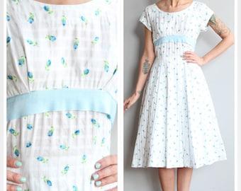 1950s Dress // Picket Fence Dress // vintage 50s dress