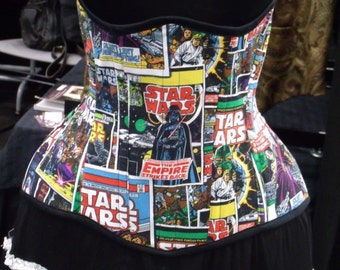 SALE - Star Wars Comic Underbust Corset - 24 Inch Closed Waist - Super Curvy!