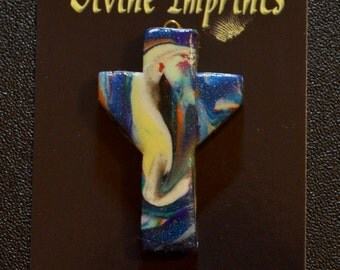 Protected by Angels Transformation Cross ~ Cross Pendant - Art Cross ~ FREE SHIPPING