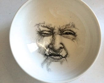 Gramma Moon, Moon Bowl, Moon Pottery for the Home, Porcelain Bowl