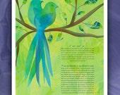 Ketubah - Love Birds in B...