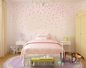 Star Confetti wall decals for baby nursery - gold stars - Metallic star decals