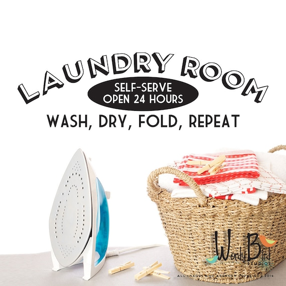 laundry room wall decal sticker self serve open 24 hours laundry wall sticker wall art com