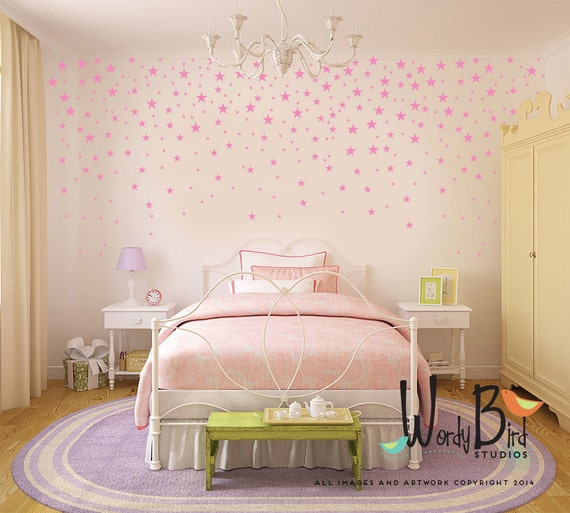 Star confetti wall decals for baby nursery gold stars - Colores para habitacion infantil ...