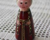 "Princess Peg Doll (Red) - Large 3.5"" size"