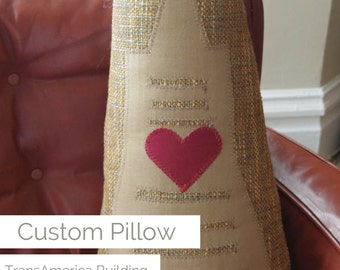 Huggable TransAmerica Building One-of-a-Kind Custom Pillow
